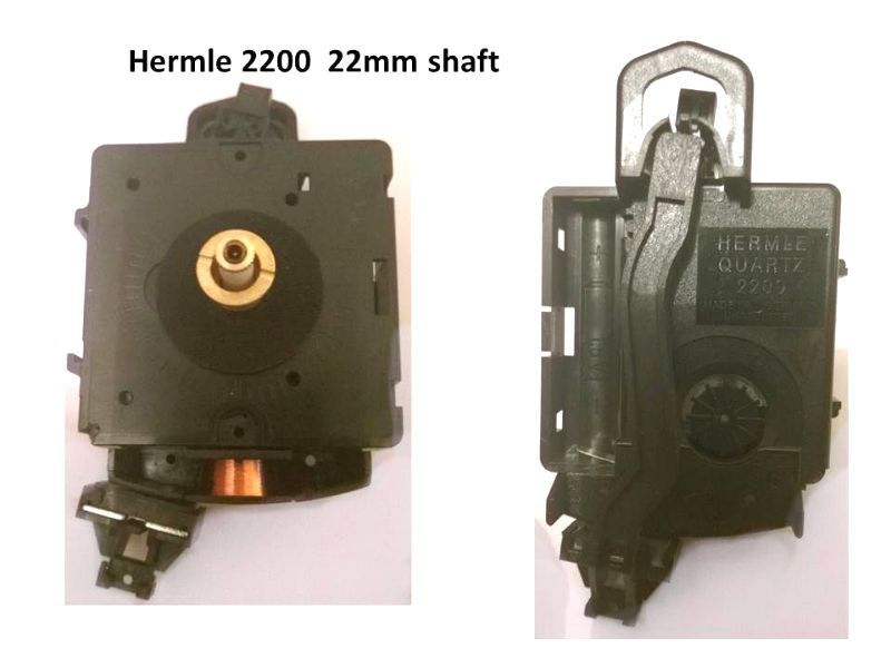 Hermle 2200 Quartz Pendulum Euroshaft Clock Movement With